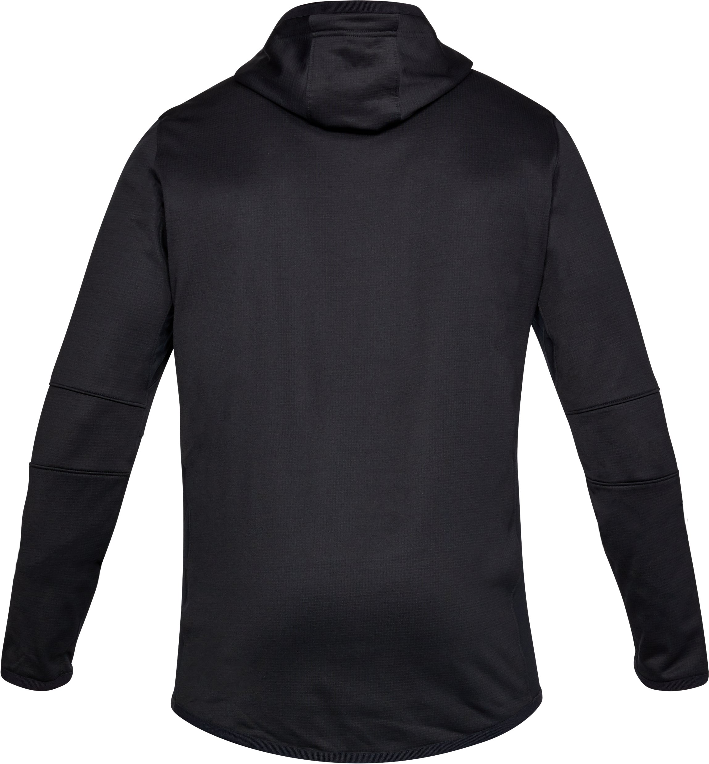 Men's ColdGear® Reactor Fleece Full Zip Hoodie, Black , undefined