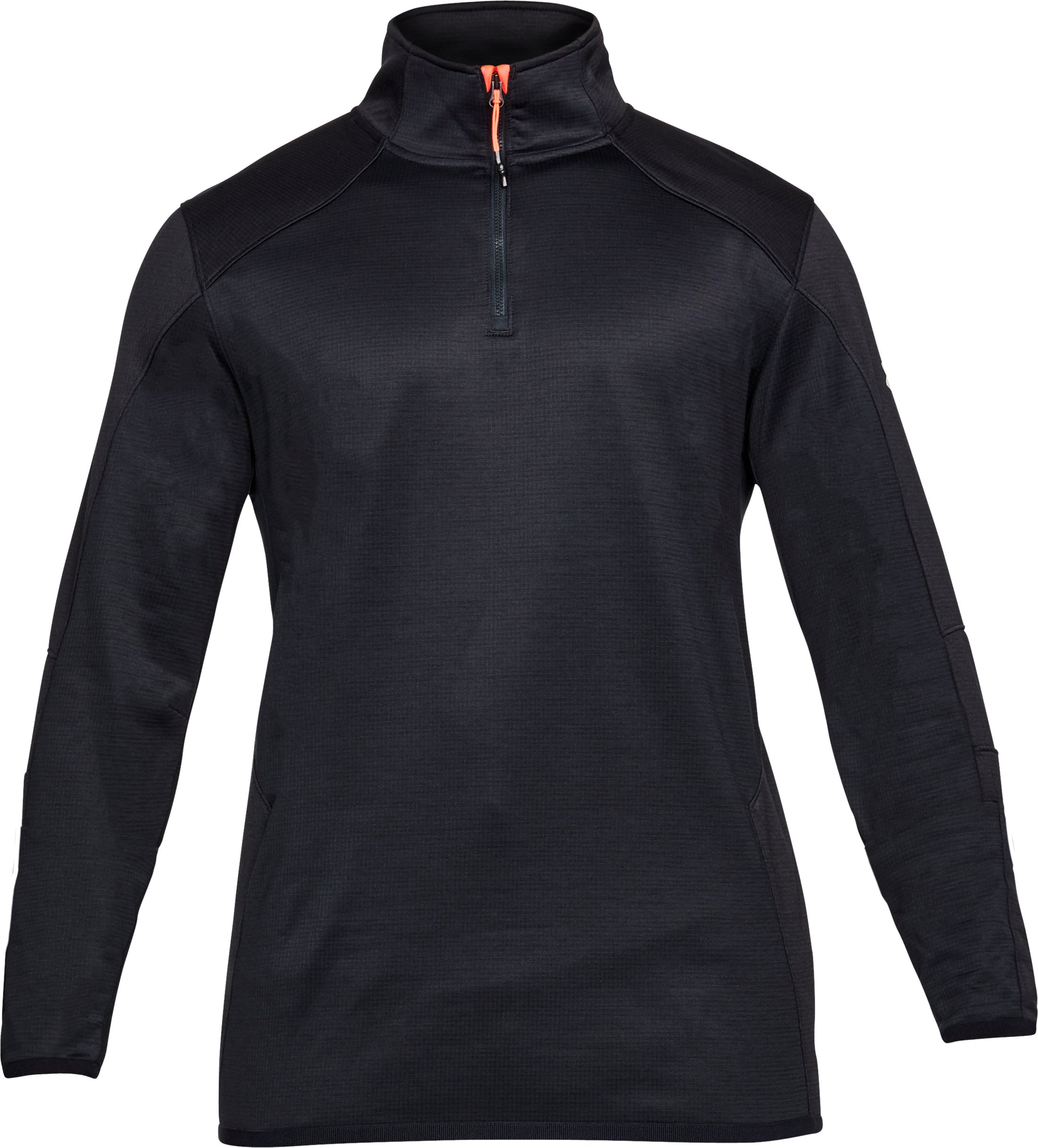 Men's ColdGear® Reactor Fleece ¼ Zip, ANTHRACITE,