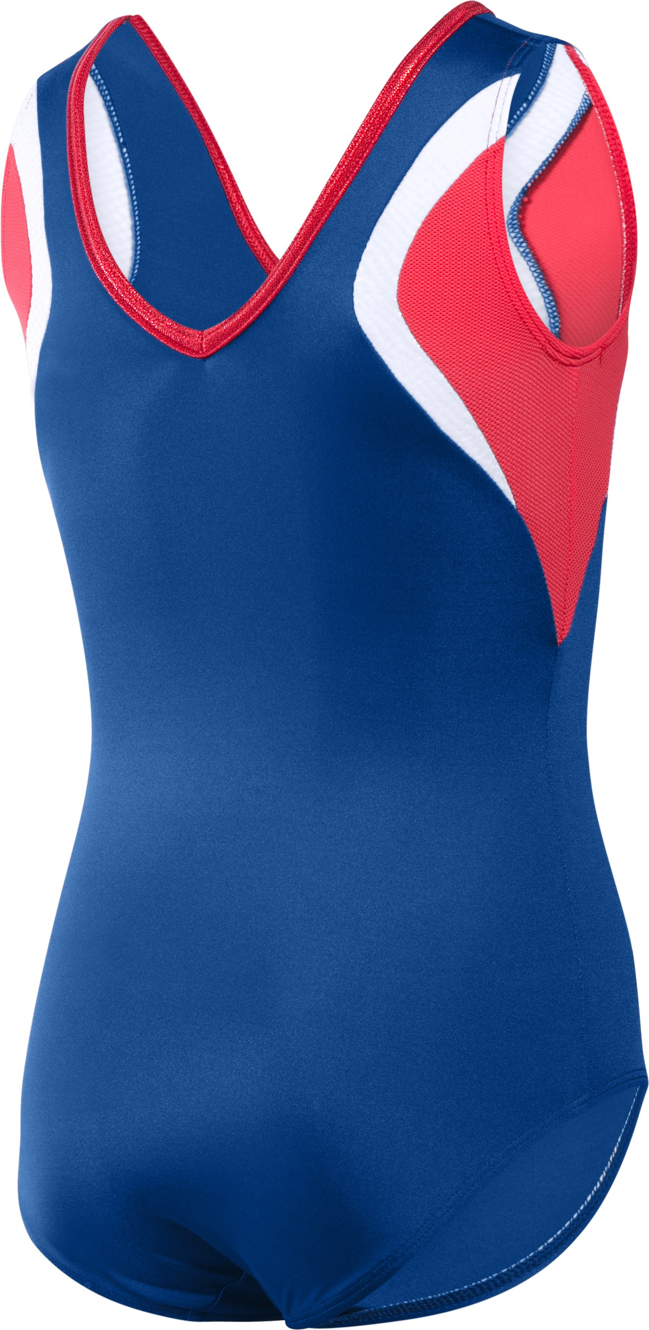 Girls' UA Command Leotard, Royal, undefined