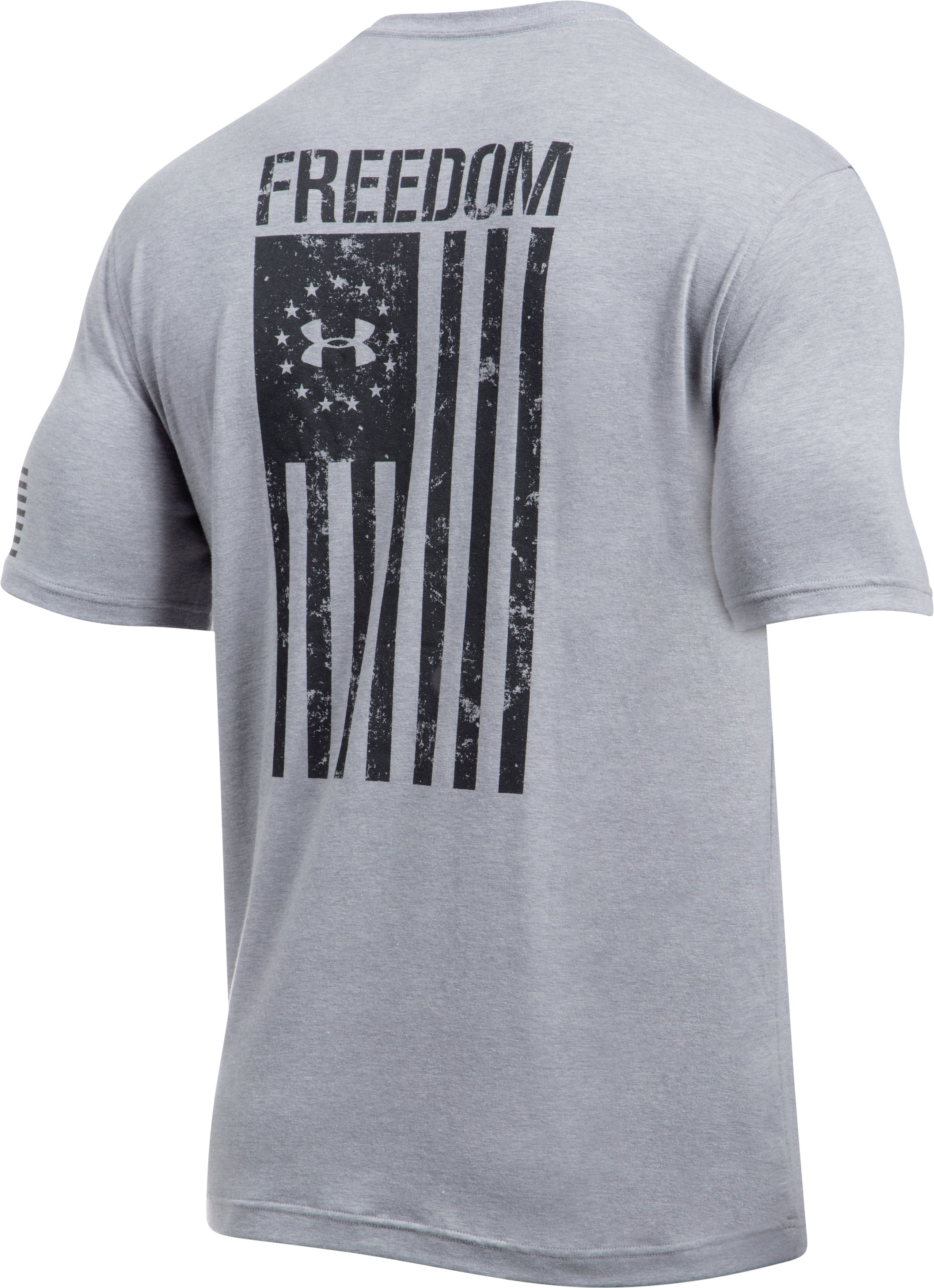 Men's UA Freedom Flag T-Shirt, True Gray Heather,