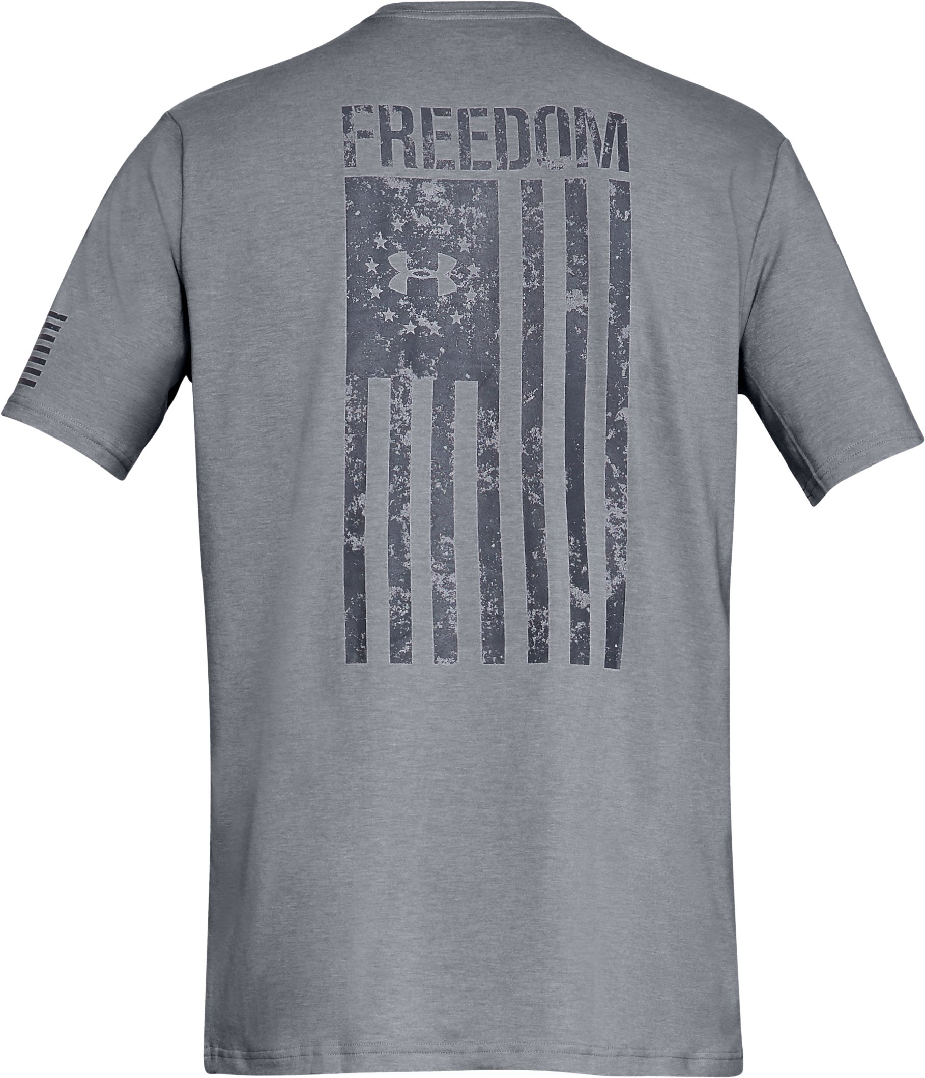 Men's UA Freedom Flag T-Shirt, STEEL MEDIUM HEATHER,