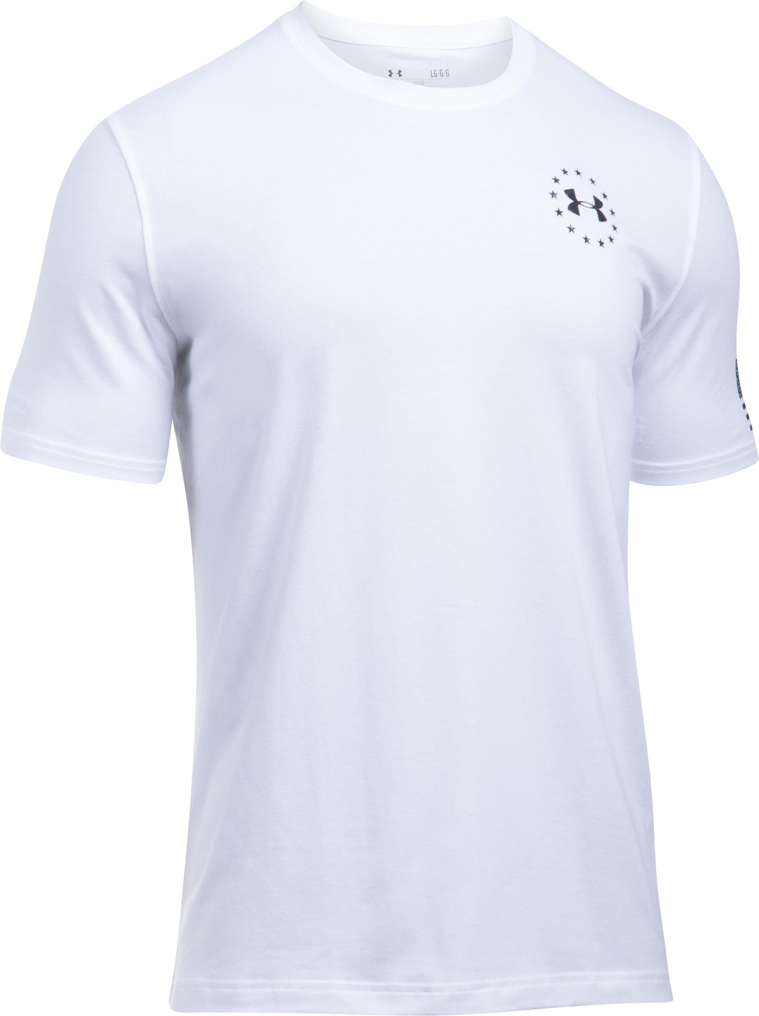 Men's UA Freedom Flag T-Shirt, White,