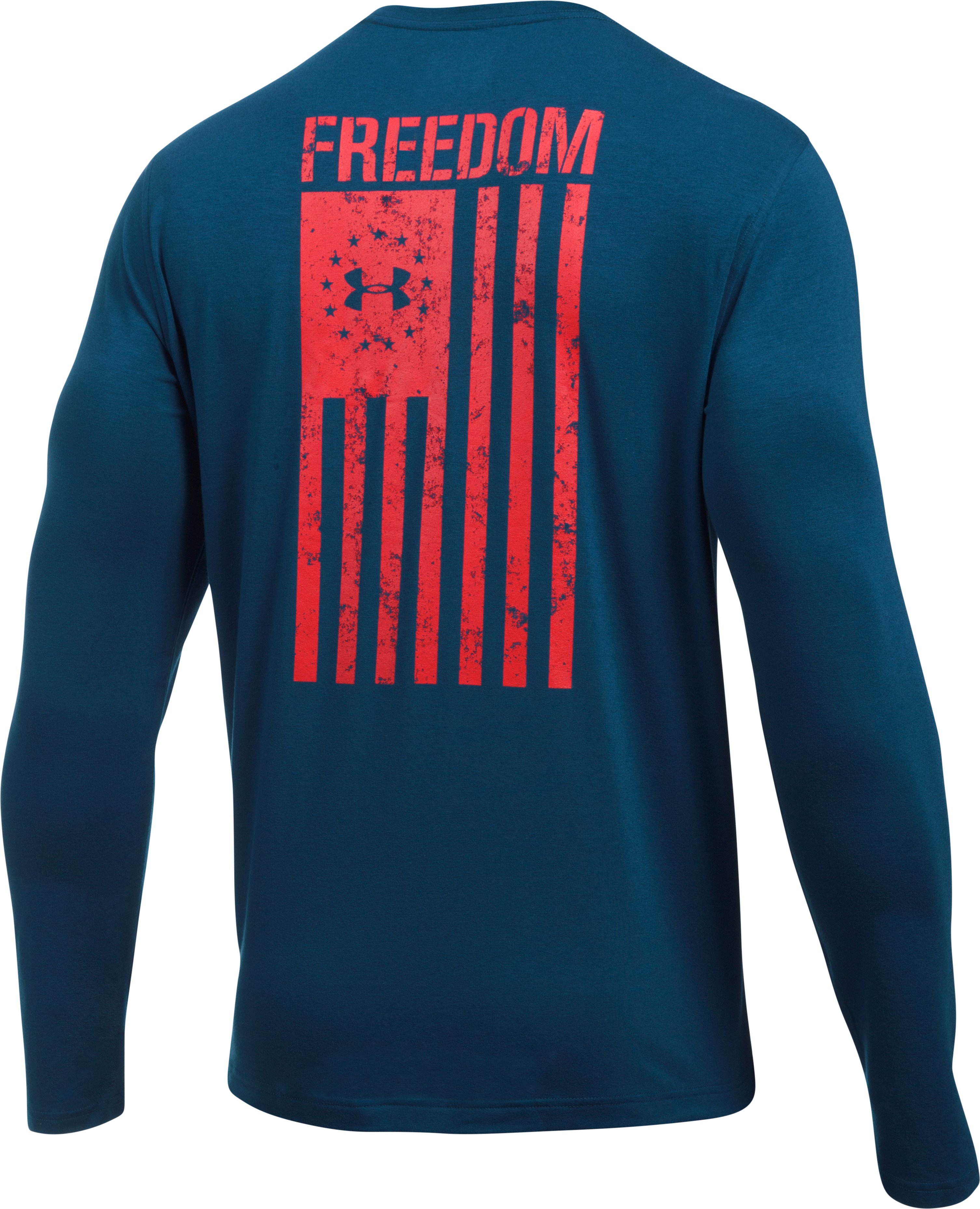 Men's UA Freedom Flag Long Sleeve T-Shirt, BLACKOUT NAVY, undefined