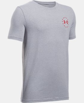 Boys' UA Freedom Flag T-Shirt FREE U.S. SHIPPING 1  Color Available $19.99