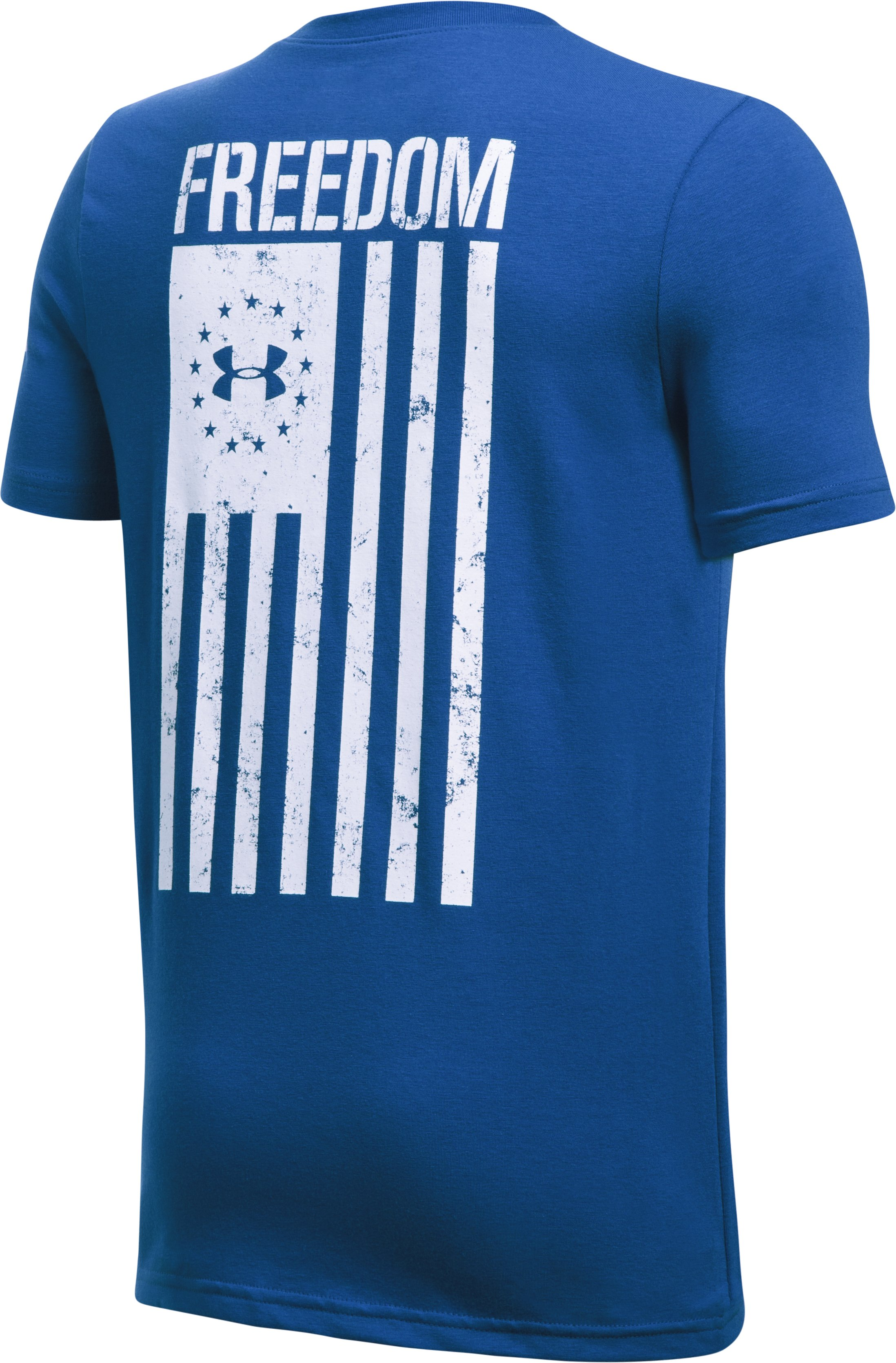 Boys' UA Freedom Flag T-Shirt, Royal,