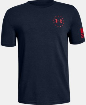 Boys' UA Freedom Flag T-Shirt  1  Color Available $19.99