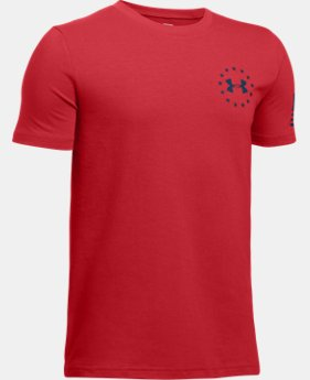 Boys' UA Freedom Flag T-Shirt  1 Color $19.99