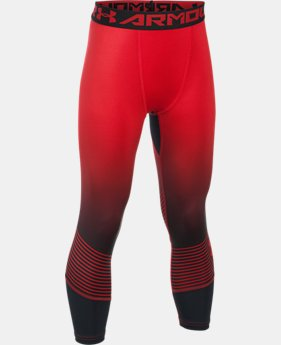 Boys' HeatGear® Armour Printed ¾ Leggings  1 Color $26.24 to $34.99
