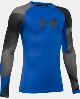 Boys' HeatGear® Armour Printed Long Sleeve  2 Colors $26.24 to $34.99