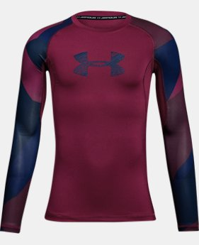 Boys' HeatGear® Armour Printed Long Sleeve  1 Color $29.99 to $39.99