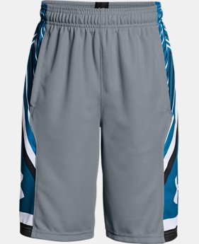 Boys' UA Space the Floor Shorts  1 Color $22.49
