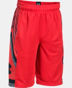 Boys' UA Space the Floor Shorts LIMITED TIME: FREE U.S. SHIPPING 1 Color $29.99