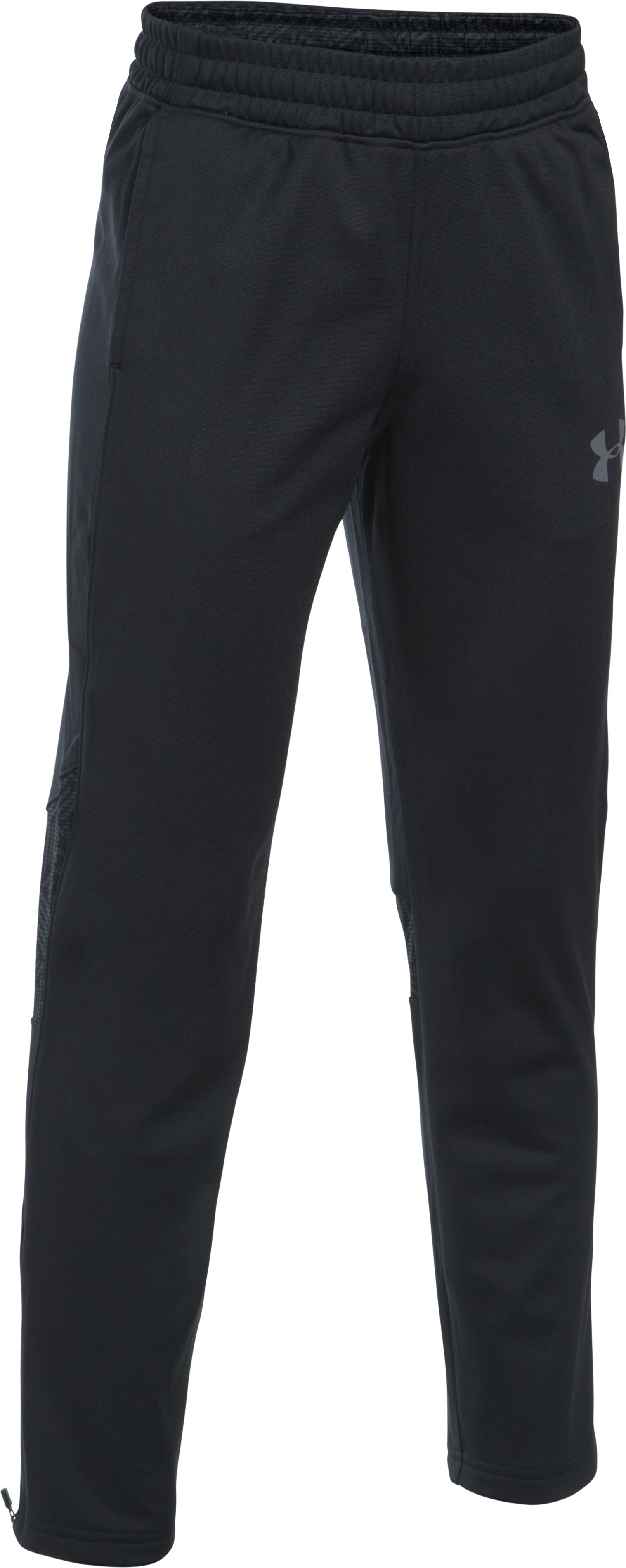 Boys' UA Select Warm-Up Pants, Black ,