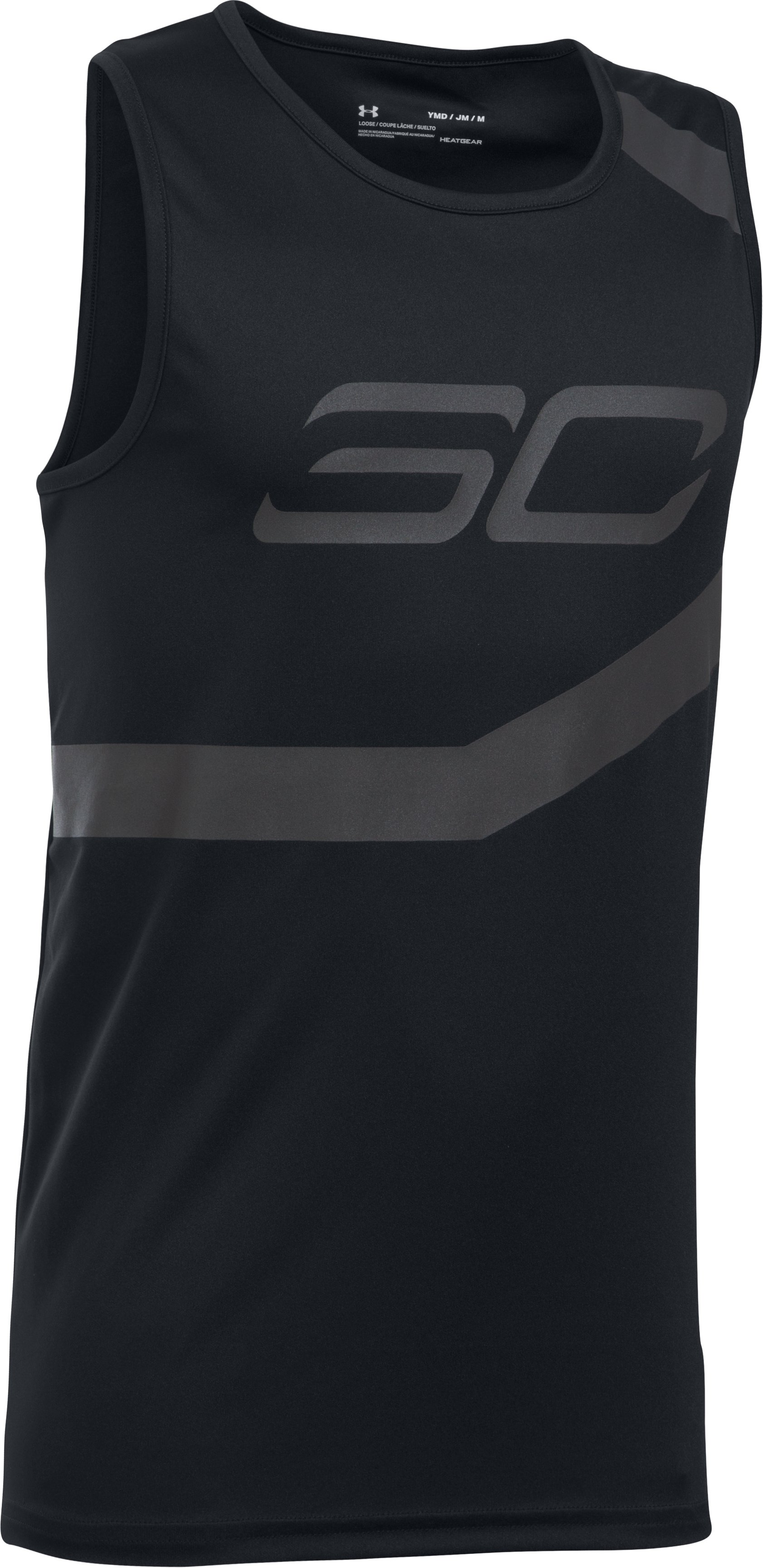 Boys' SC30 Spear Tank, Black , undefined