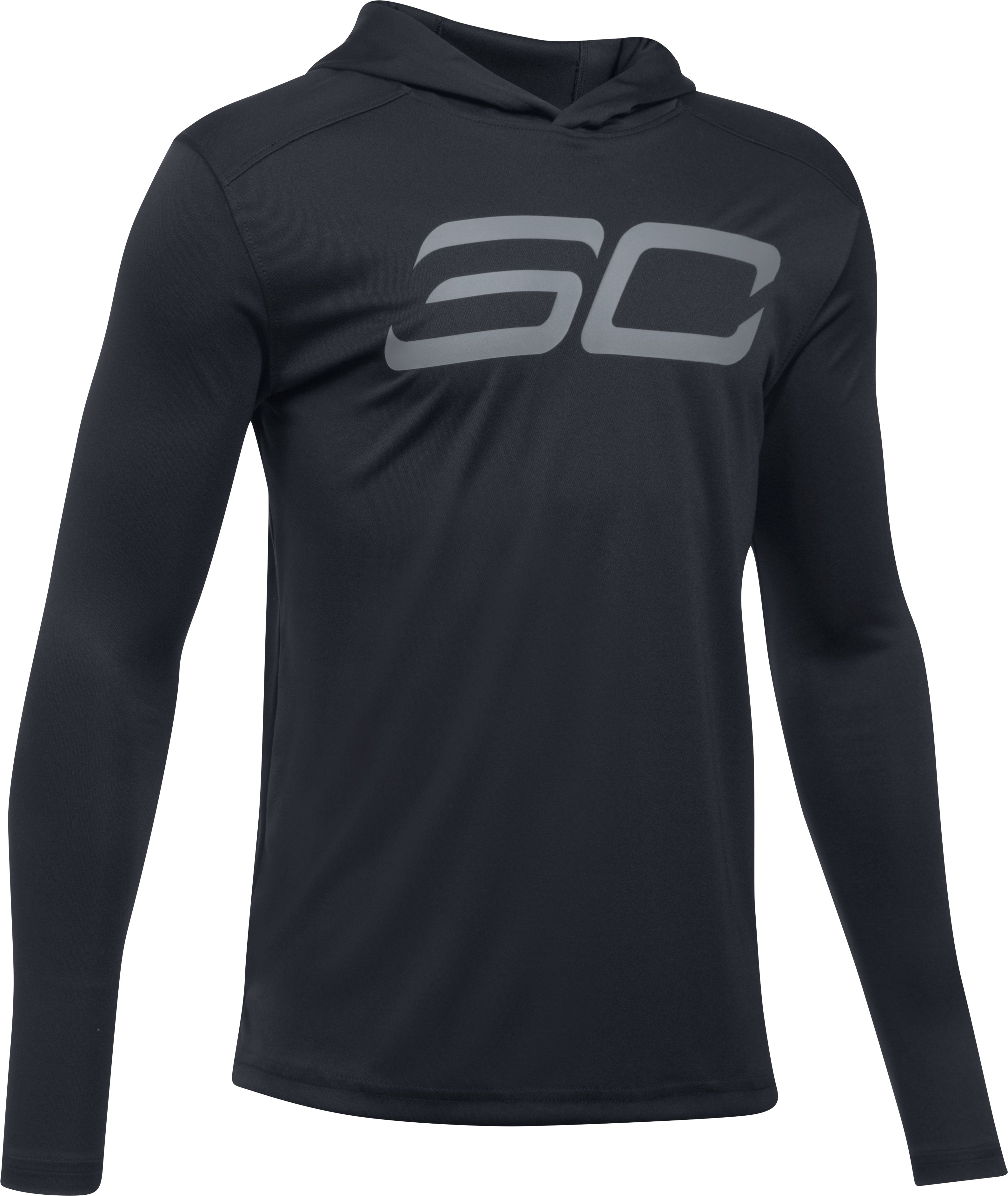 Boys' SC30 Shooting Shirt, Black ,