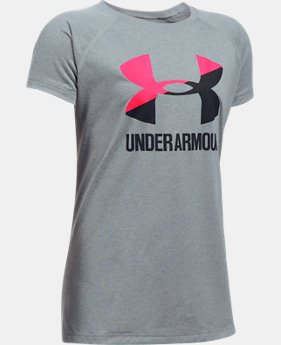Best Seller  Girls' UA Big Logo T-Shirt  7 Colors $17.99