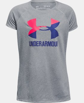 Best Seller  Girls' UA Big Logo T-Shirt  2 Colors $17.99