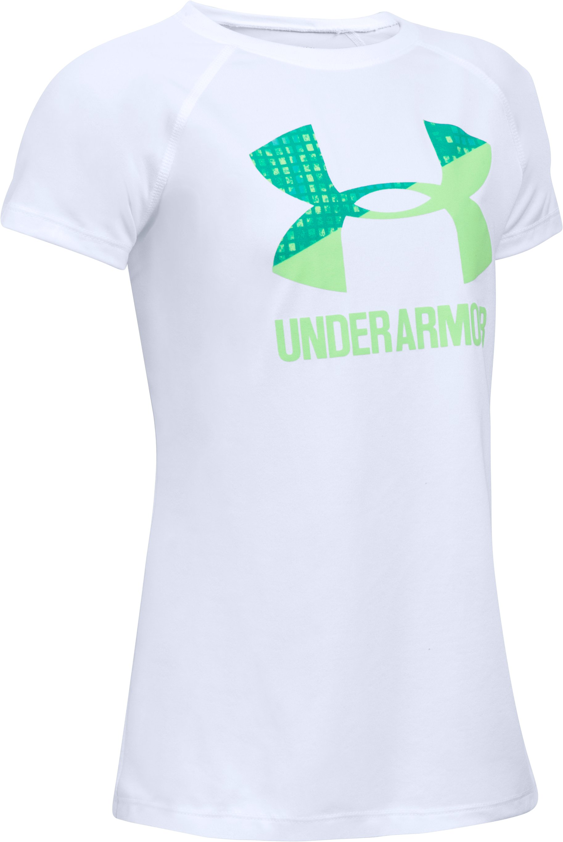 Girls' UA Big Logo T-Shirt, White, undefined