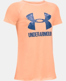 Girls' UA Big Logo T-Shirt  1 Color $11.99 to $14.99