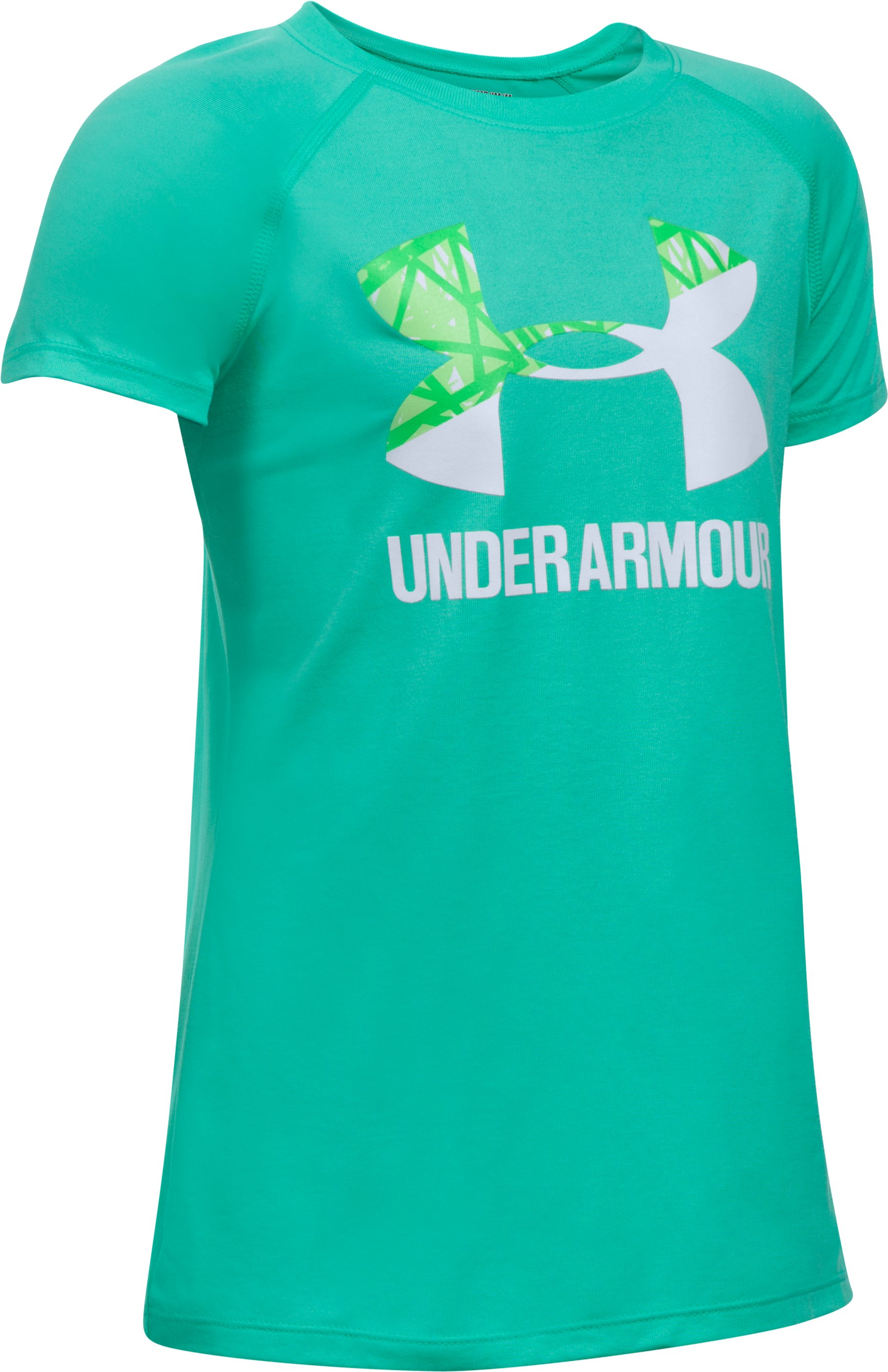 Girls' UA Big Logo T-Shirt, ABSINTHE GREEN,