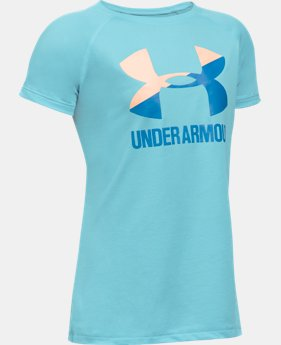 Best Seller Girls' UA Solid Big Logo Short Sleeve T-Shirt  4 Colors $14.99