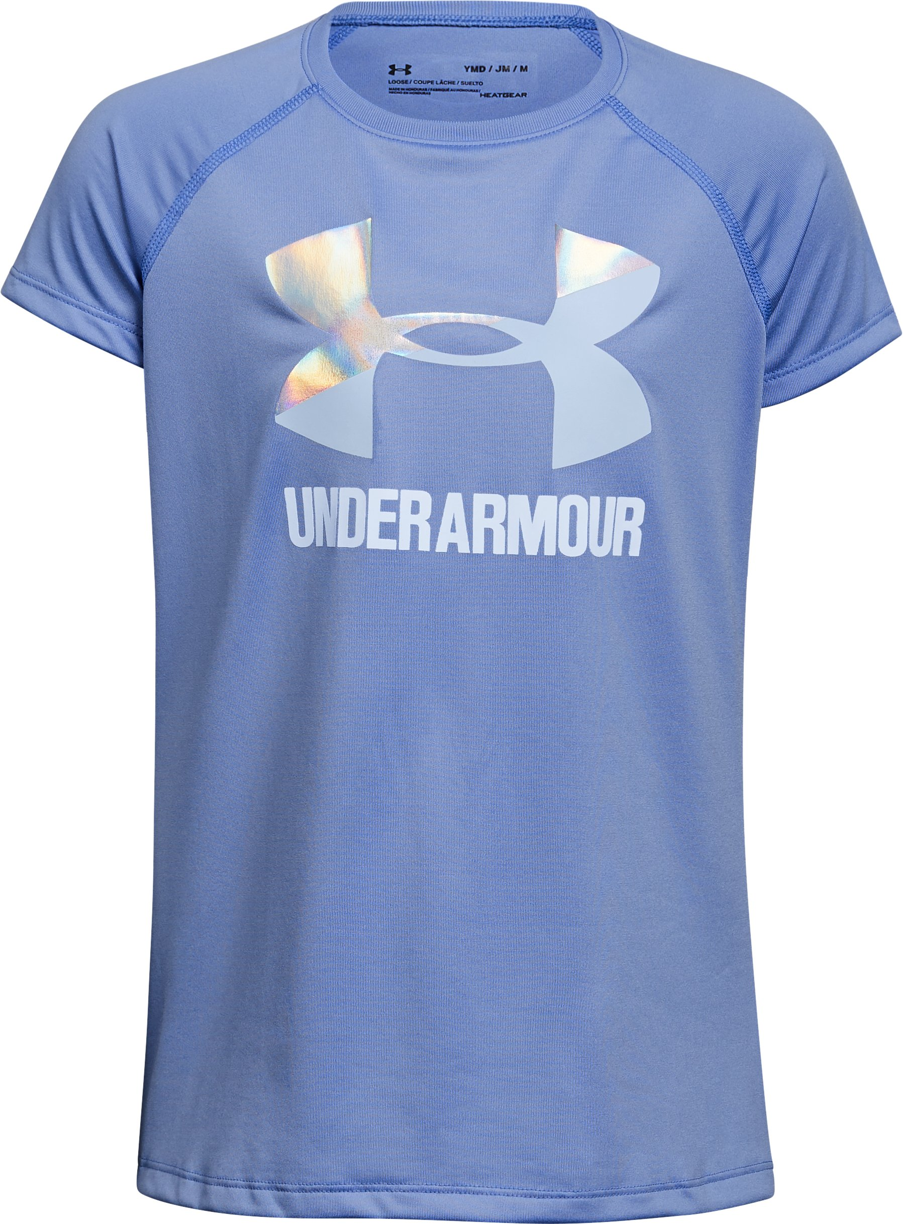 Girls' UA Big Logo T-Shirt, TALC BLUE,
