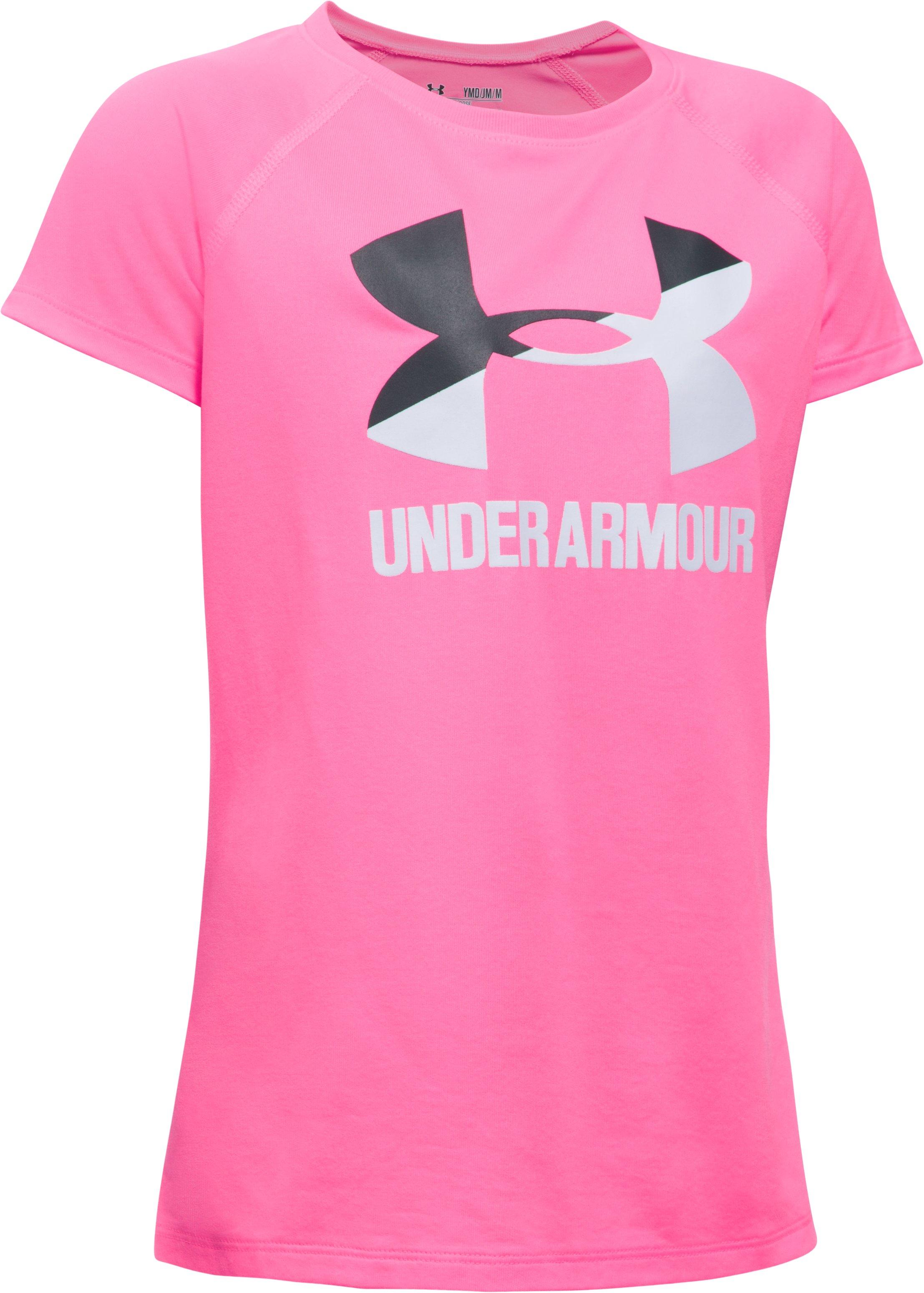 Girls' UA Solid Big Logo Short Sleeve T-Shirt | Under Armour EG