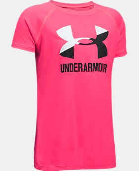 Best Seller Girls' UA Solid Big Logo Short Sleeve T-Shirt   $14.99