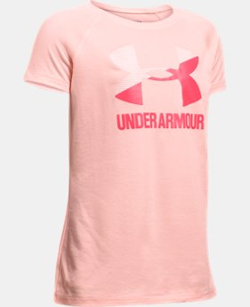 Girls' UA Solid Big Logo Short Sleeve T-Shirt  10 Colors $22.99