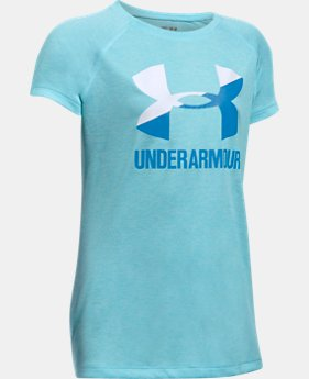 Girls' UA Big Logo Short Sleeve T-Shirt  13 Colors $19.99