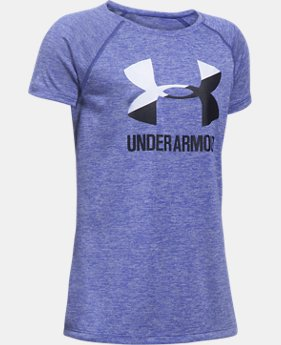 Girls' UA Big Logo Short Sleeve T-Shirt  1 Color $17.24