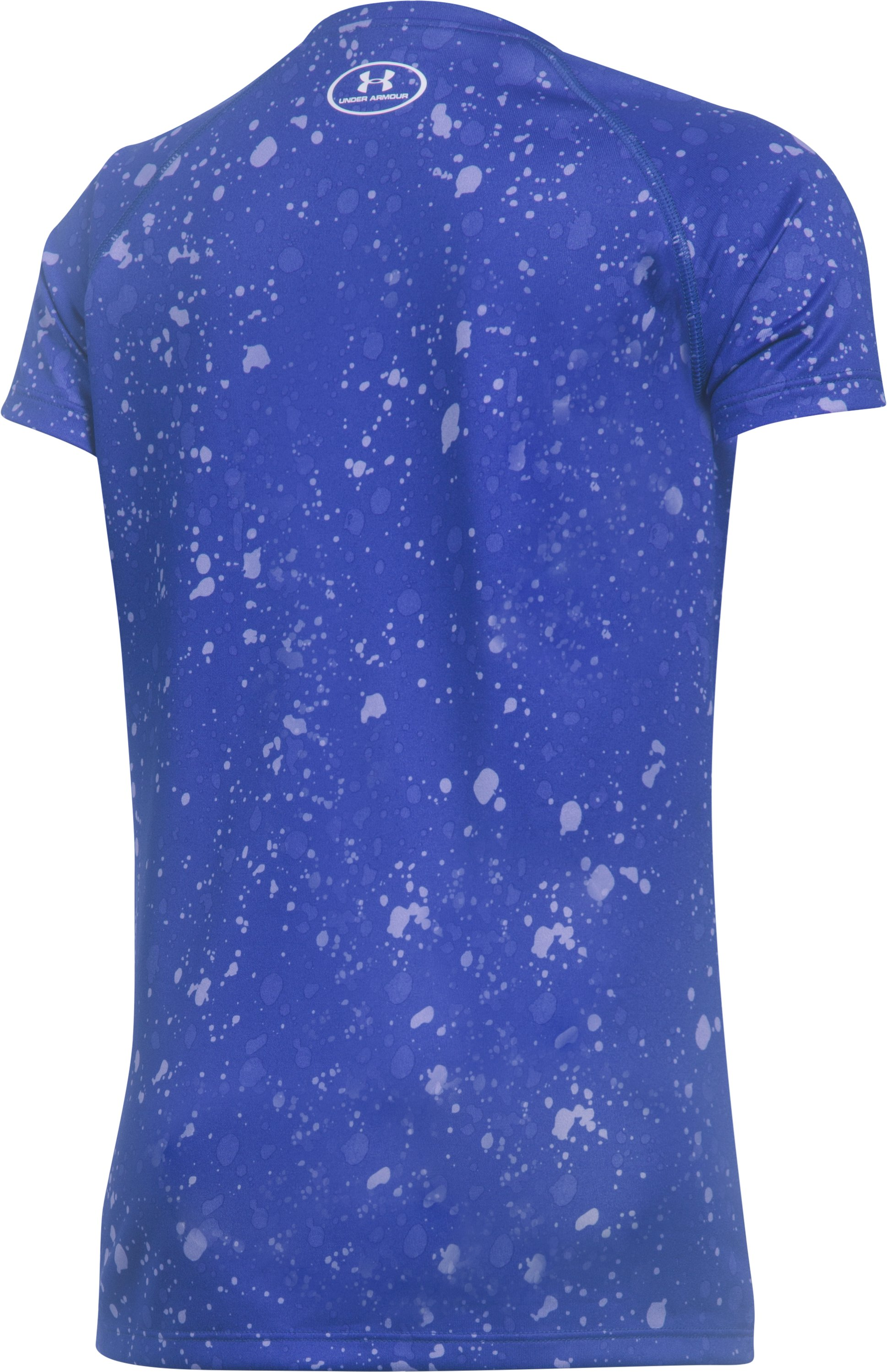 Girls' UA Big Logo Short Sleeve T-Shirt, CONSTELLATION PURPLE, undefined