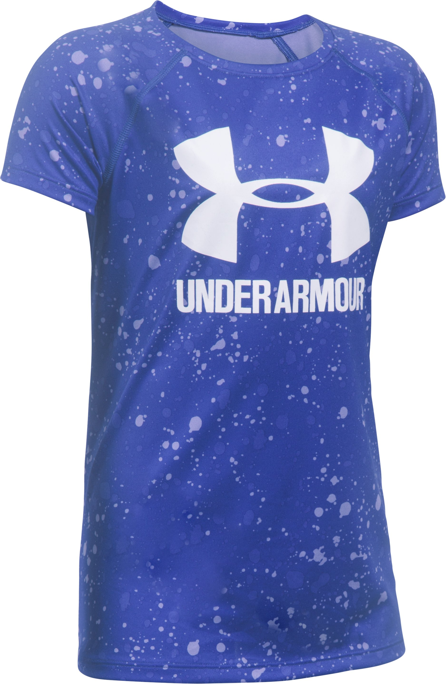 Girls' UA Big Logo Short Sleeve T-Shirt, CONSTELLATION PURPLE