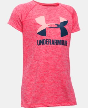 New Arrival Girls' UA Novelty Big Logo Short Sleeve T-Shirt  1 Color $24.99