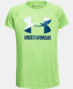 Girls' UA Big Logo Short Sleeve T-Shirt  1  Color Available $24.99