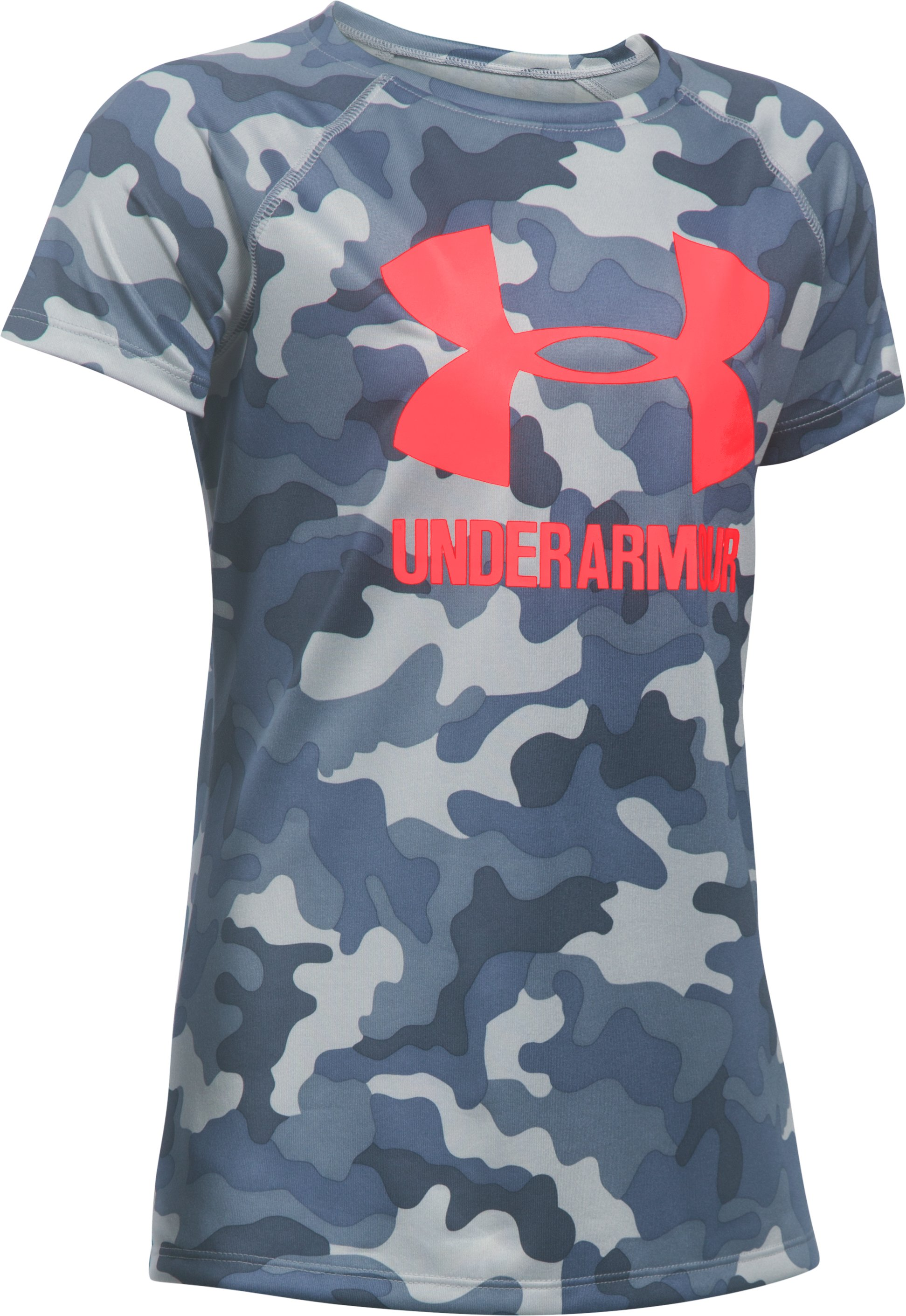 Girls' UA Big Logo Short Sleeve T-Shirt, APOLLO GRAY