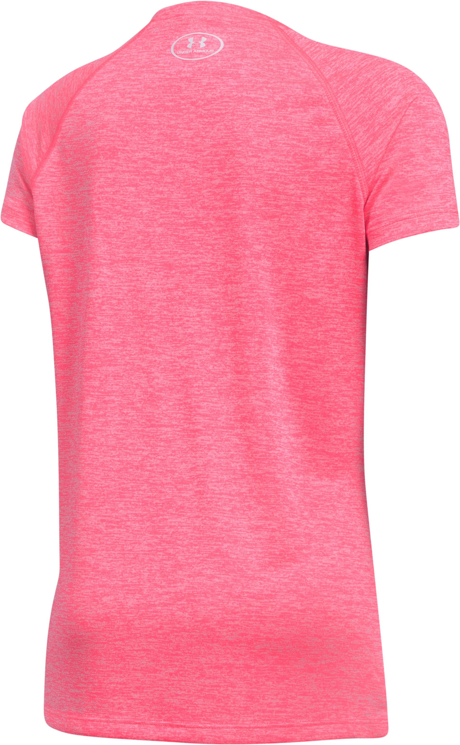 Girls' UA Big Logo Short Sleeve T-Shirt, PENTA PINK,
