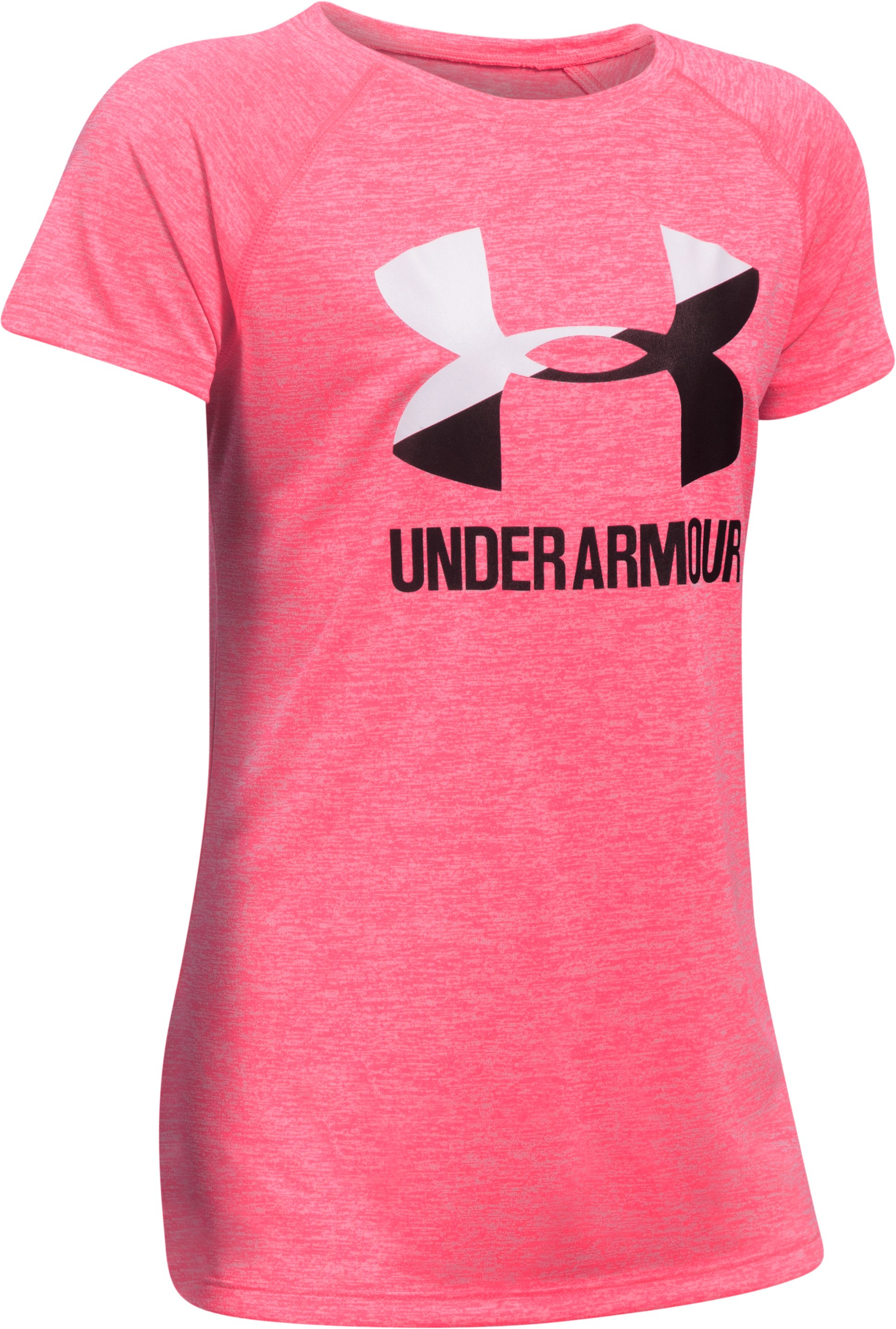 Girls' UA Big Logo Short Sleeve T-Shirt, PENTA PINK