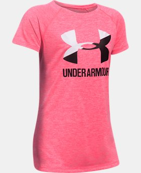 New Arrival  Girls' UA Big Logo Short Sleeve T-Shirt  1 Color $27.99