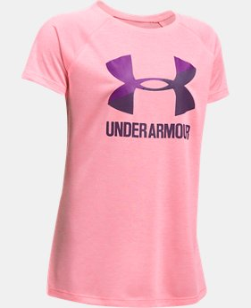 Girls' UA Big Logo Short Sleeve T-Shirt  3 Colors $22.99