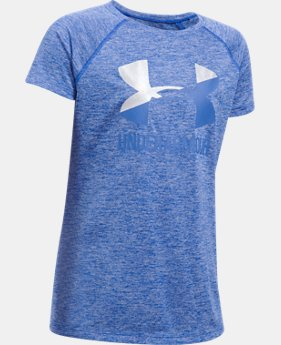 Girls' UA Big Logo Short Sleeve T-Shirt   $19.99