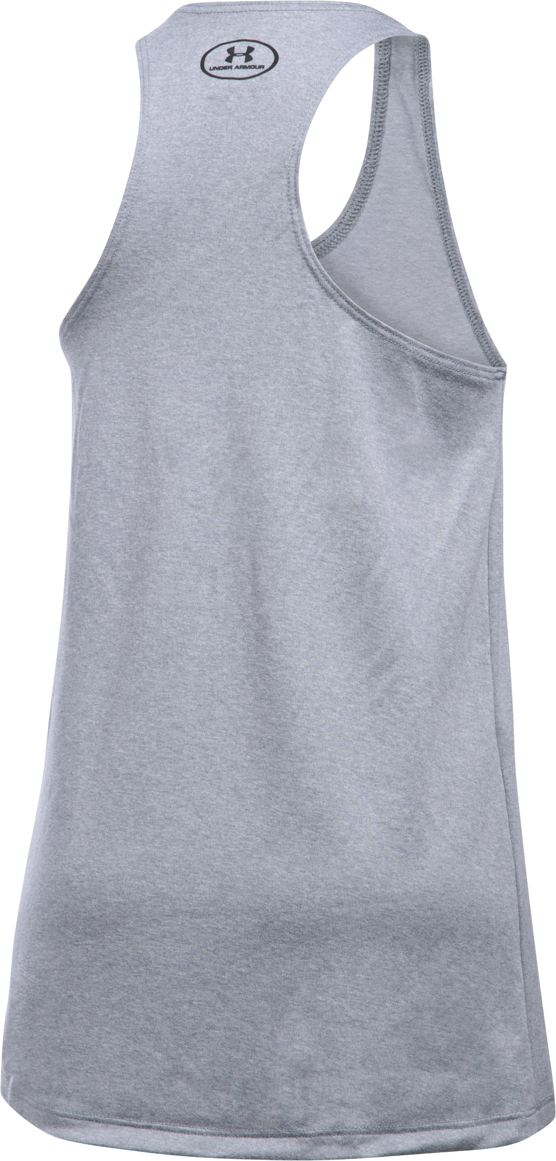 Girls' UA Under Armour Tank, True Gray Heather,