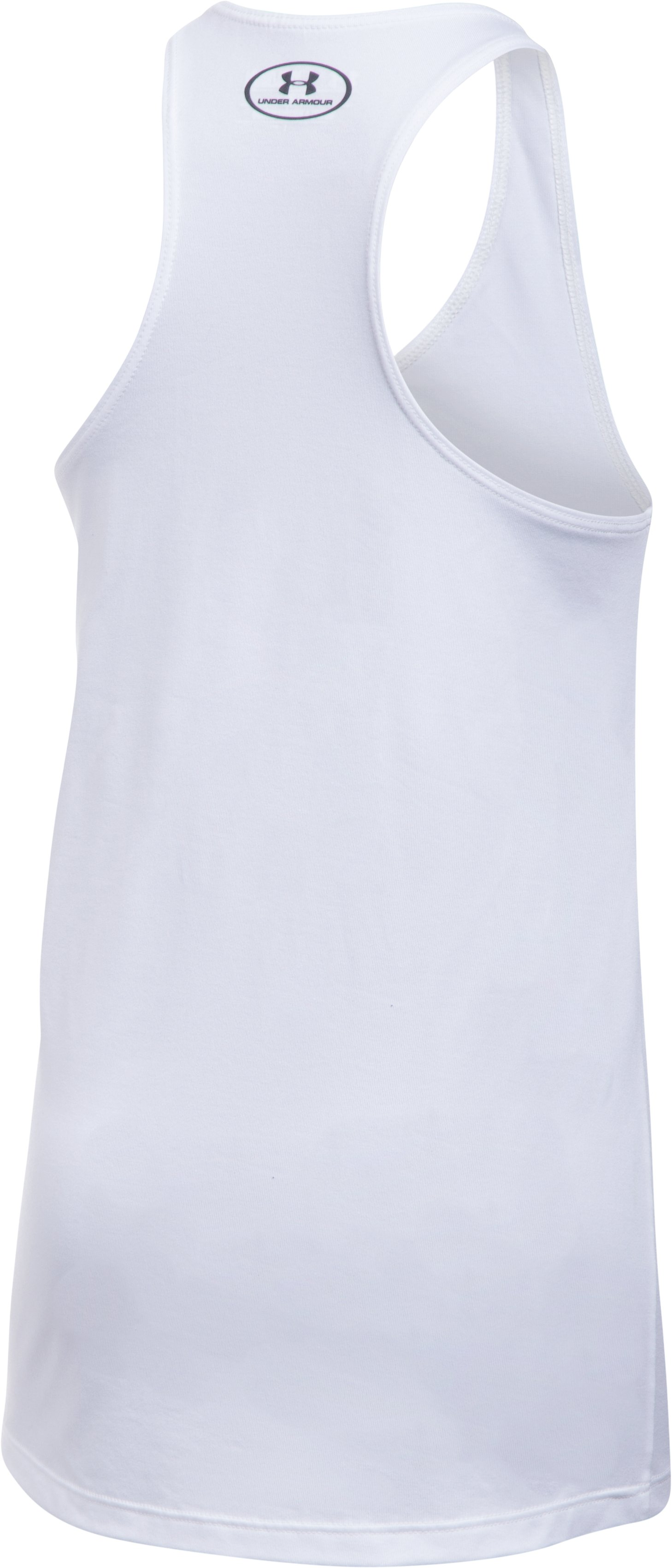 Girls' UA Under Armour Tank, White, undefined
