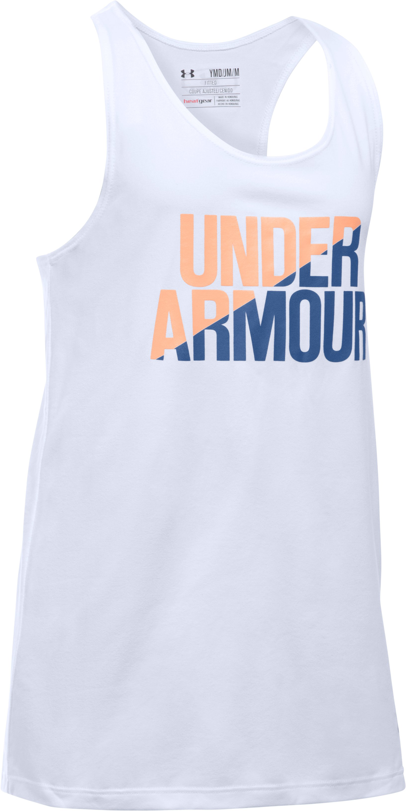 Girls' UA Under Armour Tank, White,