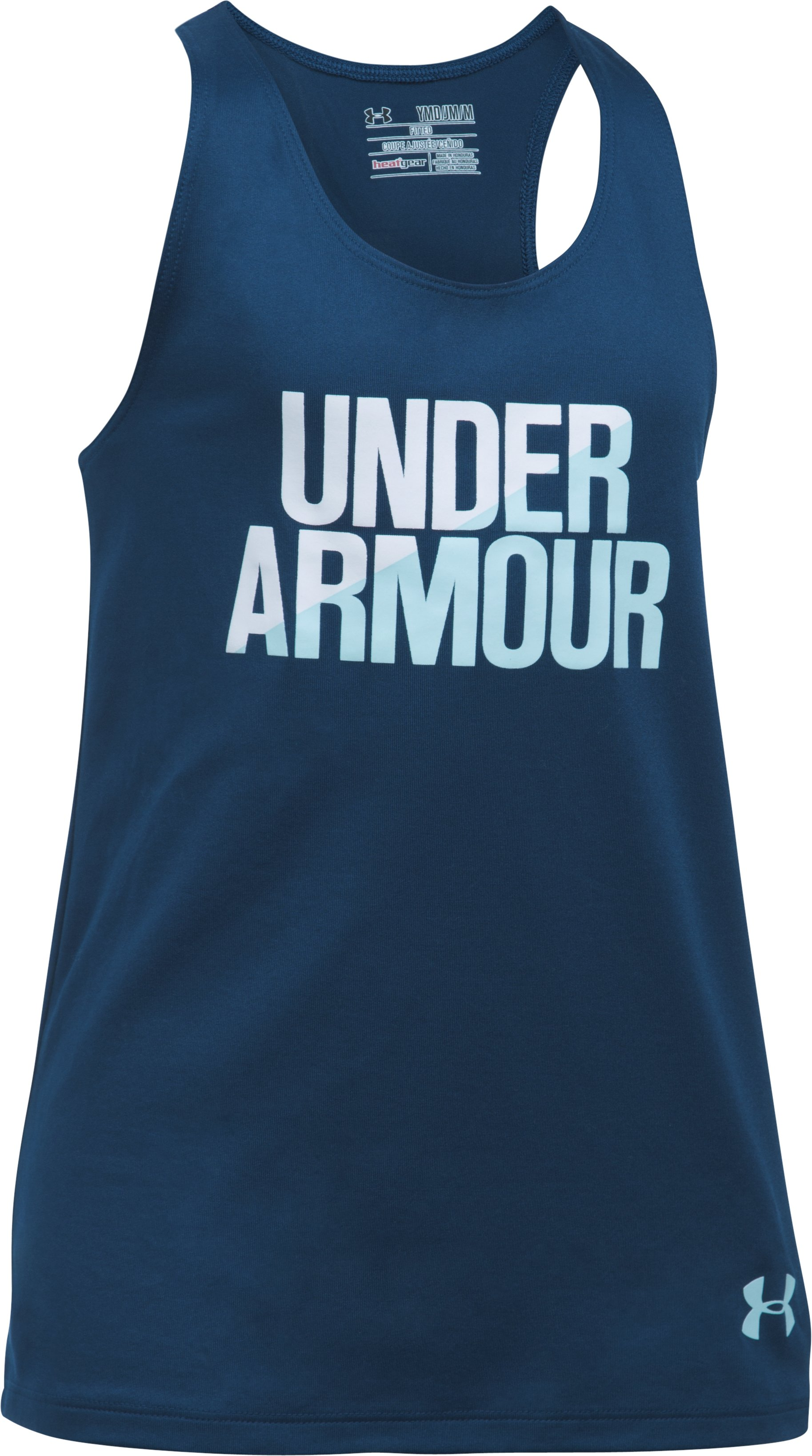 Girls' UA Under Armour Tank, BLACKOUT NAVY, undefined