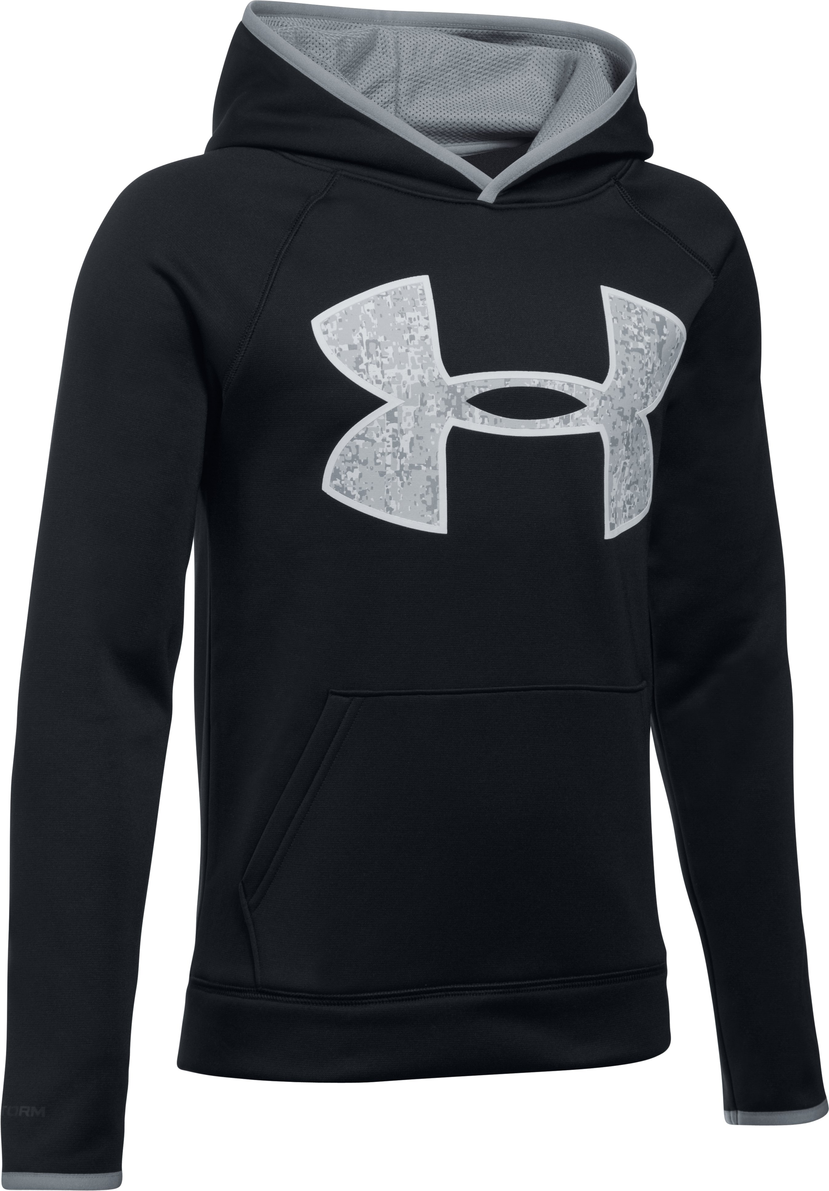 Boys' Armour Fleece® Big Logo Hoodie, Black , undefined
