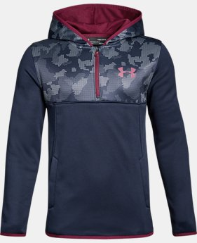 New to Outlet Boys' Armour® Fleece ¼ Zip Hoodie LIMITED TIME OFFER 6 Colors $29.99