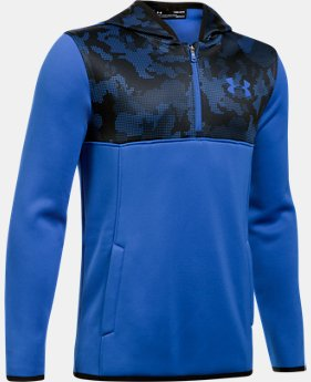New to Outlet Boys' Armour® Fleece ¼ Zip Hoodie LIMITED TIME OFFER 2 Colors $29.99