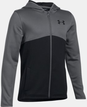 New to Outlet Boys' Armour® Fleece Full Zip Hoodie LIMITED TIME OFFER 4 Colors $29.99