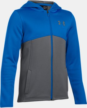 New to Outlet Boys' Armour® Fleece Full Zip Hoodie LIMITED TIME OFFER 1 Color $29.99